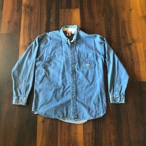 Vintage Disney Mickey Mouse Denim Button Up Shirt